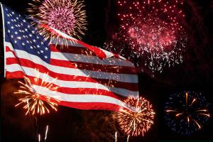 Fireworks - American Flag