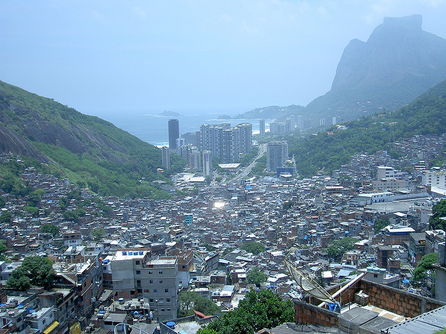 View from top of Rocinha favela Rio de Janeiro Brazil